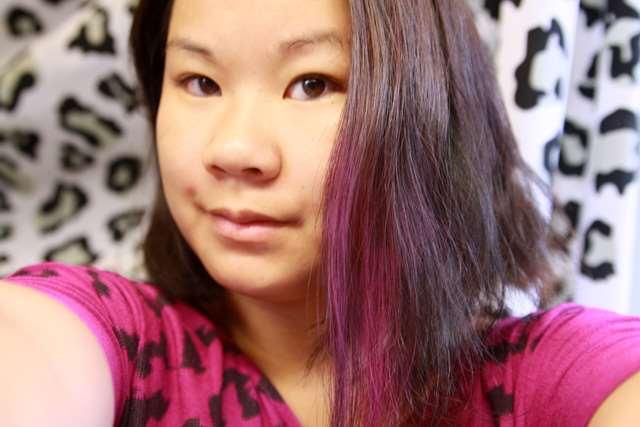 hårskugga rosa lila